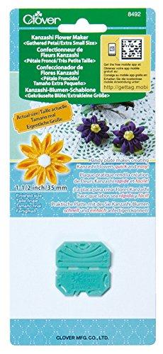 Clover MID(H65,4,10) Kanzashi Blumen Schablone gekräuselte Blüte, extraklein