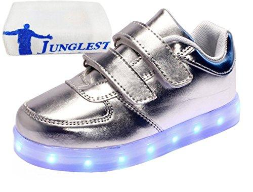 [Présents:petite serviette]JUNGLEST® 7 Couleur Mode Unisexe Homme Femme USB Charge LED Lumière Lumineux Clignotants Chaussures de ma c21