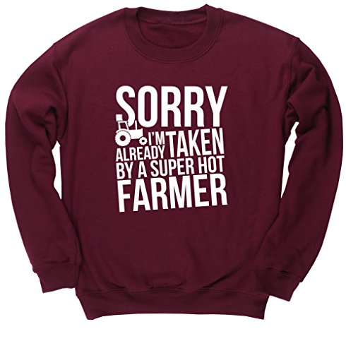 hippowarehouse-sorry-im-already-taken-by-a-super-hot-farmer-unisex-jumper-sweatshirt-pullover