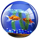 Fellowes Round Brite Mat Mouse Pad - Goldfish Bowl