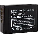 Mitsuru NPW126 Batterie d'origine 4 Wh 3,7 V pour Fujifilm FinePix HS50EXR/X-A1/X-E1/X-E2 Noir