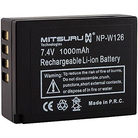 Mitsuru® batería para Fujifilm NP-W126, recambio para Fujifilm FinePix HS30 HS30EXR HS33EXR HS35EXR HS50EXR X-A1 X-E1 X-E2 X-M1 X-Pro 1 X-T10
