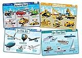 merka Coches, Contruction vehículos, aviones y barcos conjunto de 4 manteles individuales para la Educación de los niños - antideslizante lavable