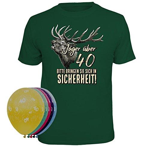 T-Shirt Jäger über 40 Größe L und 5 Luftballons -