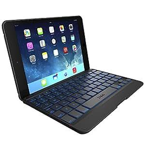 Zagg Folio Hinged Case and Back Lit Bluetooth Keyboard for iPad Mini with Retina Display/iPad Mini - Black