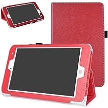 "Chuwi Hi8 Pro / Hi8 / Vi8 Plus Funda,Mama Mouth Slim PU Cuero Con Soporte Funda Caso Case para 8"" Chuwi Hi8 Pro / Hi8 / Vi8 Plus Windows 10 & Android 5.1 Dual sistemas Tablet PC,Rojo"