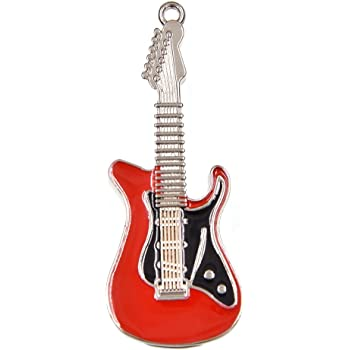 FEBNISCTE 16GB Pen Drive Metal Guitarra Forma Llaves USB 2.0 Regalo (Rojo)