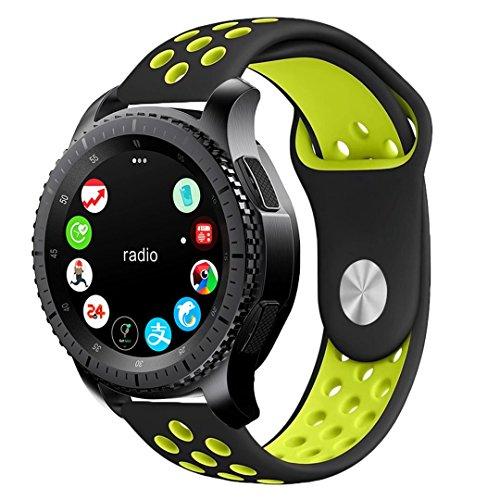 BarRan Vivoactive 3 Armband, Weich Silikon atmungsaktiv Sport Band Wasserdicht Alternative UhrenArmbandd Armbandd für Garmin Vivoactive 3