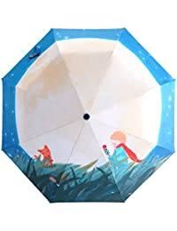 Go Further principito bolsillo tres partysu paraguas plegable linda