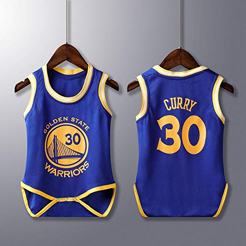 BeKing Unisex Baby Body - NBA Jordan 23/Curry 30/James 23/Irving 11 Basketball Trikot Ärmellos für Baby Jungen & Mädchen Achselbody Wickelbody Strampler Formender Body, 6-30 Monate