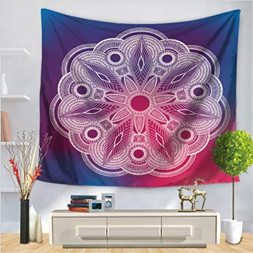 baisheng Mandala Indio Colgante de Pared Tapicería Hippie Tapices Ropa de Cama Colcha, Playa de Picnic, Mantel, Colgante Decorativo (Flor de Mandala Series 4-51x59 Inch/130x150 CM)