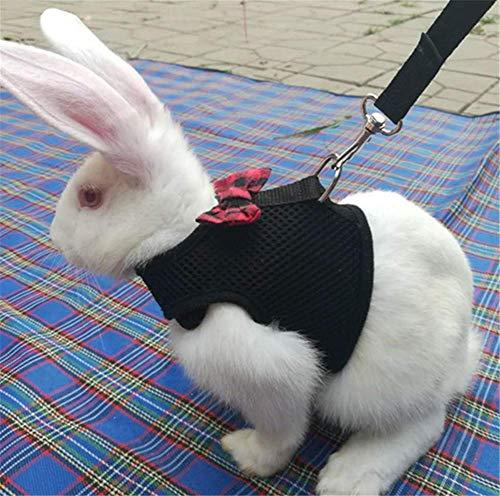 Markcur Katzen Katzengeschirr Kleine Katze Katzengarnitur Welpengeschirr Geschirr für Totoro Hamster Kaninchen und kleine Hunde Schwarz