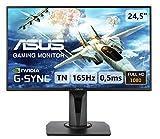 ASUS VG258QR 62,2 cm (24,5 Zoll, Full HD) Monitor (DVI, HDMI, DisplayPort, 0,5ms Reaktionszeit, 165Hz) schwarz