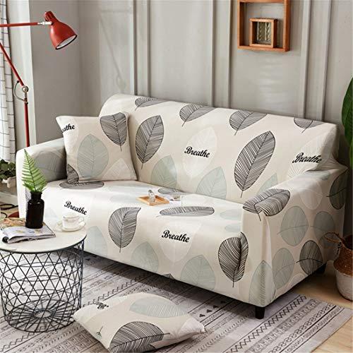 Odot copridivano elastico, copridivano salotto protettore imbottito sofa antiscivolo ideale per poltrone mobili copridivano (3 posti: 195-230cm,foglia)