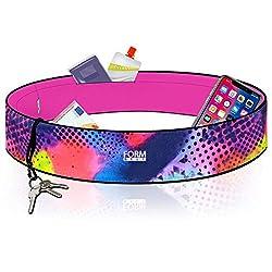 Formbelt® Laufgürtel für Handy Smartphone iPhone 8 X XS XR 11 6-s 7+ Plus Samsung Galaxy S7 S8 S9 S10 Edge Hüfttasche für Sport Fitness Laufen Bauchtasche zum Laufen (Brazil, XS)