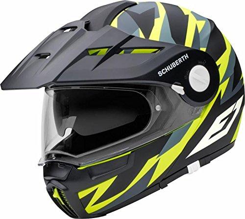 SCHUBERTH E1 Rival Giallo Adventure Modulare Casco per Moto Taglia XS