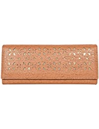 Whiteflower Women' Tan Three Compartment With 5 Card Slots Hand Wallet (WF0071) - High5 Techmart