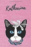 Katharina Notizbuch Katze / Malbuch / Tagebuch / Journal / DIN A5 / Geschenk:...