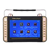Topiky Altoparlante per Lettore MP3, 7in 5000mAh Videocitofono Portatile Singing Karaoke Machine Support USB/TF Card/Radio/Batteria Esterna/Selezione di brani digitali, per intrattenimento