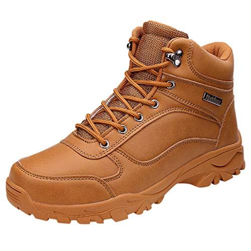 Fascino-M』 Wanderschuhe Herren, rutschfest Trekking- und Wanderstiefel aus hochwertigem Leder, Membrankonstruktion Männer für Wandern Abenteuer Outdoor Sport -