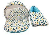 #6: GoodLuck Baybee Cotton Printed Carry Bed with Mosquito Net (0 to 6 Months, Blue)
