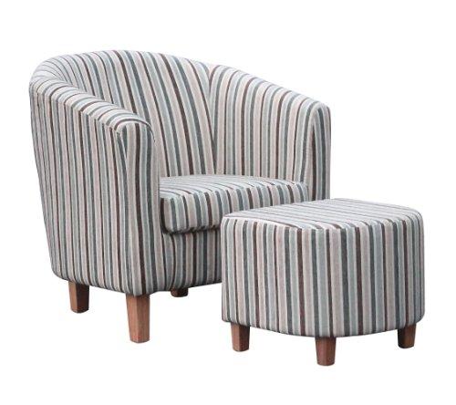 shankar enterprises stripe fabric tub chair set 72 x 74 x 68 cm