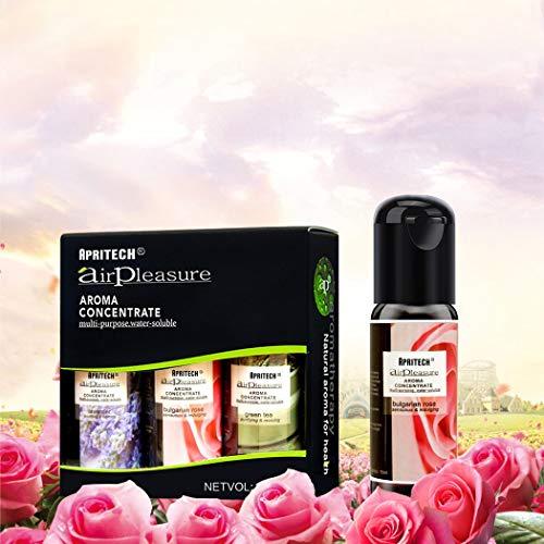 APRITECH® olio essenziale Di Altissima Qualità, Aromaterapia oli essenziali Umidificatore Oli Kit, Puri Al 100{50fc35a3ae6488a6f5cc0553a8a451fe9ccfc91e0677af7d8bdd51d3f57e0b65} essential oil 3x15ml (Lavanda +rosa bulgara + Albero del té)