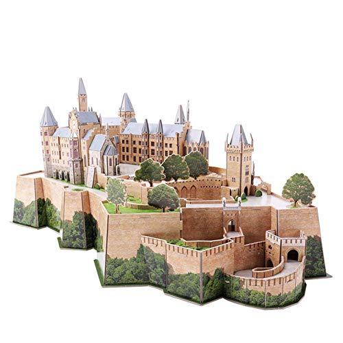 Hohenzollern Castle 3D Puzzle-Modell, Modell Einer 3D-Stadt Kein Klebstoff erforderlich Hohe...