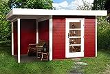weka Designhaus 172 A Gr.1, schwedenrot, 28 mm, ET, Anbau 150 cm, ohne RW