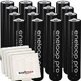 Kraftmax 16er-Pack Panasonic Eneloop PRO XX AAA / Micro Akkus - Neueste Generation - 950 mAh Hochleistungs Akku Batterien in Kraftmax Akkubox V5, 16er Pack