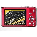 3 x atFoliX Película Protectora Panasonic Lumix DMC-FS11 Lámina Protectora de Pantalla - FX-Antireflex anti-reflectante