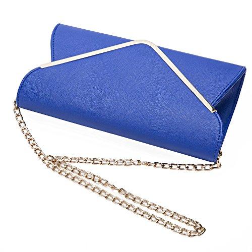 Beddingleer Damen Elegante Envelope Clutch Handtasche Unterarmtasche Abendtasche Schultertasche 20x16x5cm #05