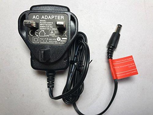 Ersatz für Amigo UK Adapter ams47–1200500Fb Input 100–240VAC 12VDC 0,5A