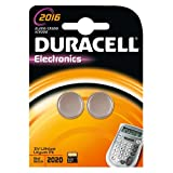 Duracell Lithium Coin Batteries CR2016, Twin Pack - (5299938)