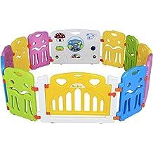 Seelux Parque de juegos infantil de plástico con el elemento integrado (10+2)