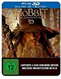 Hobbit German Blu-Ray 3D 4-Disc Magnet Cover Steelbook Media Market Exclusive