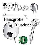 Hansgrohe Unterputz Duscharmaturenset Talis S ibox Armatur Duschteller 30 cm