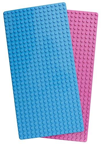 Play Build Baseplate Brick Set - 2 Stück - 10 x 20 Zoll - Grundplatten - Kompatibel mit Lego Duplo-Bausteinen (Diese Marke ist nicht mit Lego Duplo verbunden) (Lego Jumbo-set)