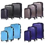 Sunydeal bagaglio a mano trolley valigie 4 ruote grande rigida leggera con diverse dimensioni e colori