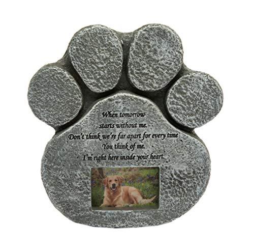 Hyindoor Gedenkstein für Hunde und Katzen mit Bilderrahmen