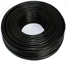 Cavo per altoparlanti, 2 x 2,50 mm², 50 m, colore: nero