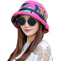 LIGYM Sombrero de Mujer,Exterior,Visera,Plegable,Sombrero de Pesca.