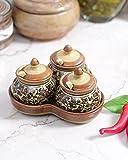 VarEesha Brown Ceramic Pickle Jars Set (...