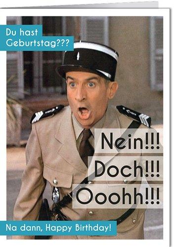 Grußkarte 11,5x16 cm +++ LUSTIG von modern times +++ GEBURTSTAG NEIN!!! DOCH!!! OOOHH!!! - 86661193 +++ MODERN TIMES picture alliance/Sammlung Richter