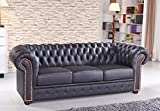 Chesterfield Ledersofa Ledercouch Chesterfield-3-S