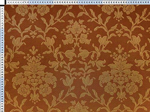 Tessuto da tappezzeria, rivestimento in tessuto, tessuto da tappezzeria, tessuto, tessuto, tessuto - Fiorella della tenda. arancione-marrone - bella jacquard con motivi floreali di