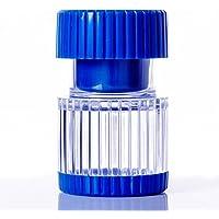 Medikamentenmörser blau transparent - schmale Form - mit Depotfach - stellt aus Pillen und Tabletten ein leicht... preisvergleich bei billige-tabletten.eu