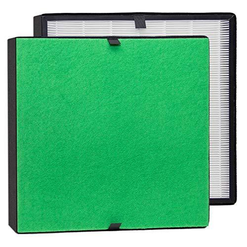 alfdaTrueHEPA Filter-Komplett-Set/Feinstaubfilter und TrueHEPA-Filter bestens geeignet für Allergiker (für alfda Luftreiniger ALR550 Comfort)