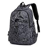 XIAOXINYUAN Notebook Aziendale Bag Men Student Sacchetto Ricarica Usb Outdoor Leisure Travel Zaino Grigio Chiaro