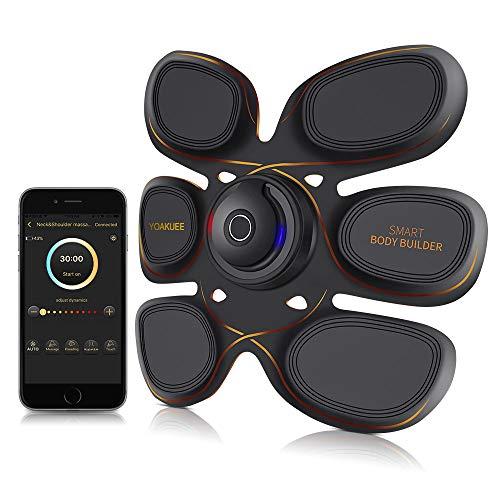 Yoakuee elettrostimolatore muscolare con controllo attraverso app per smartphone usb ricaricabile connessione bluetooth-50 livelli